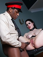 Naughty goth slut blows and gets banged hardcore