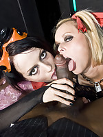 Kinky gothic sluts pounded with a big black dick