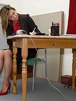 office girls gets dirty phone call